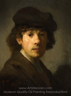 Rembrandt as a Young Man painting reproduction, Rembrandt Van Rijn