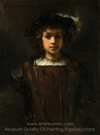 Rembrandt's Son Titus painting reproduction, Rembrandt Van Rijn