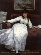 Repose (Berthe Morisot) painting reproduction, �douard Manet