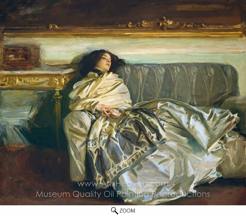 John Singer Sargent, Repose (Nonchaloire) oil painting reproduction