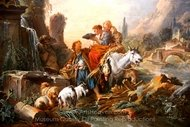 Rest at the Fountain painting reproduction, Francois Boucher
