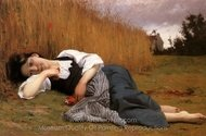 Rest in Harvest painting reproduction, William A. Bouguereau