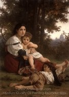 Rest (Le Repos) painting reproduction, William A. Bouguereau
