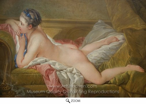 Francois Boucher, Resting Maiden oil painting reproduction