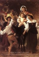 Return from the Harvest painting reproduction, William A. Bouguereau
