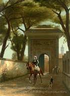Return to the Palace painting reproduction, Jean-Leon Gerome
