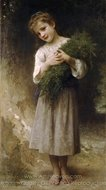 Returned from the Fields (Retour des champs) painting reproduction, William A. Bouguereau