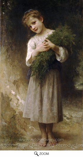 William A. Bouguereau, Returned from the Fields (Retour des champs) oil painting reproduction