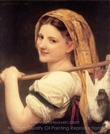 Returned from the Market (Le retour du marche) painting reproduction, William A. Bouguereau