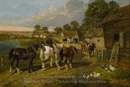 Returning to the Stable Yard painting reproduction, John Frederick Herring Sr.