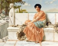 Reverie painting reproduction, John William Godward