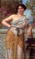 Reverie 1912 painting reproduction, John William Godward
