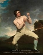 Richard Humphreys, the Boxer painting reproduction, John Hoppner