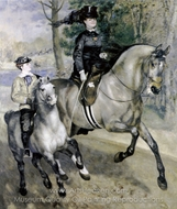 Ride in the Bois de Boulogne (Madame Henriette Darras) painting reproduction, Pierre-Auguste Renoir
