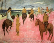 Riders on the Beach painting reproduction, Paul Gauguin