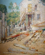 Rigger's Shop, Provincetown painting reproduction, Childe Hassam