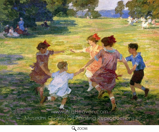 Edward Henry Potthast, Ring Around the Rosie oil painting reproduction