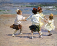 Ring Around the Rosy painting reproduction, Edward Henry Potthast