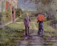 Rising Road painting reproduction, Gustave Caillebotte