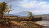 River Landscape with Figures painting reproduction, William M. Hart