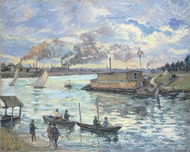 River Scene painting reproduction, Armand Guillaumin