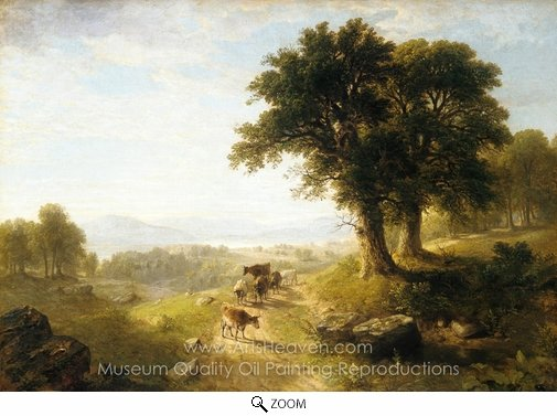 Asher Brown Durand, River Scene oil painting reproduction