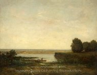 River Scene painting reproduction, Theodore Rousseau