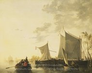 River Scene painting reproduction, Aelbert Cuyp