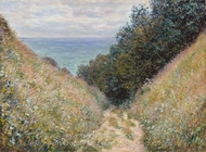 Road at La Cavee, Pourville painting reproduction, Claude Monet