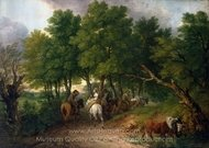 Road from Market painting reproduction, Thomas Gainsborough