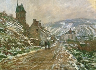 Road to Vetheuil in Winter painting reproduction, Claude Monet