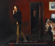 Robert Louis Stevenson and His Wife painting reproduction, John Singer Sargent