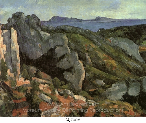 Paul Cézanne, Rocks at L'Estaque oil painting reproduction