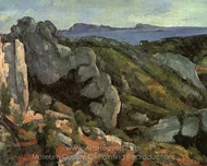 Rocks at L'Estaque painting reproduction, Paul C�zanne