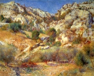 Rocks at L'Estaque painting reproduction, Pierre-Auguste Renoir