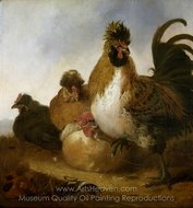 Rooster and Hens painting reproduction, Aelbert Cuyp