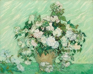 Roses painting reproduction, Vincent Van Gogh