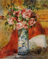 Roses in a Vase painting reproduction, Childe Hassam