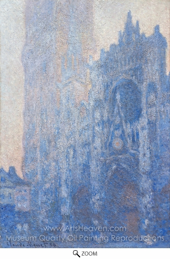 Claude Monet, Rouen Cathedral, the Portal, Morning Effect oil painting reproduction