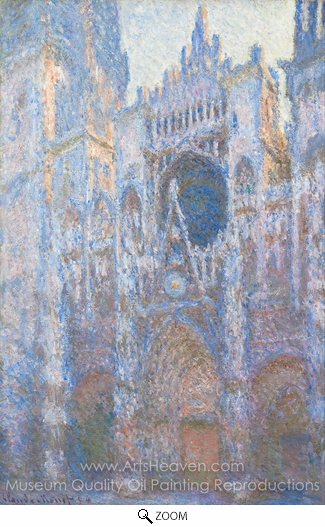 Claude Monet, Rouen Cathedral, West Facade oil painting reproduction