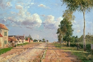Route de Versailles, Rocquencourt painting reproduction, Camille Pissarro