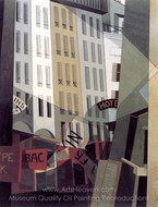 Rue du Singe qui Peche painting reproduction, Charles Demuth
