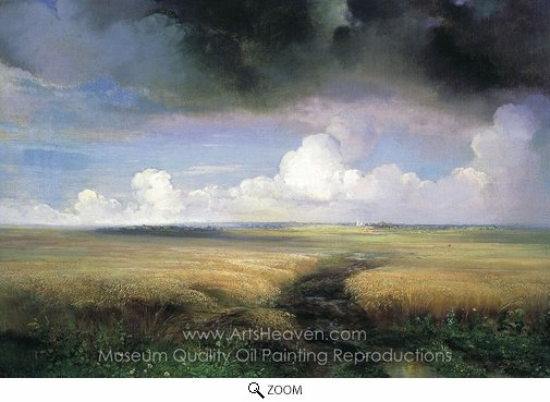 Alexey Savrasov, Rye oil painting reproduction