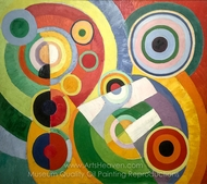 Rythmes sans fine Exhibition painting reproduction, Robert Delaunay