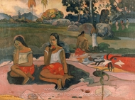 Sacred Spring: Sweet Dreams painting reproduction, Paul Gauguin