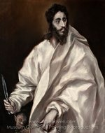 Saint Bartholomew painting reproduction, El Greco