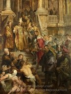 Saint Bavo is Received by Saints Amand and Floribert painting reproduction, Peter Paul Rubens
