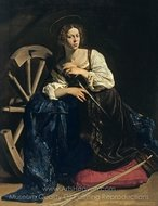 Saint Catherine of Alexandria painting reproduction, Caravaggio