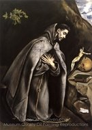 Saint Francis Meditating painting reproduction, El Greco