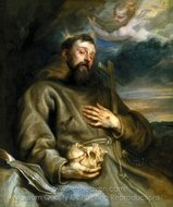 Saint Francis of Assisi in Ecstasy painting reproduction, Sir Anthony Van Dyck